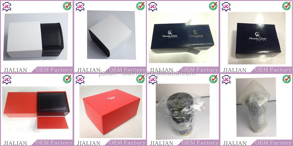 Black Leather Round Bow Tie Storage Box With Magnet Lock Necktie Packaging  Box For Travel