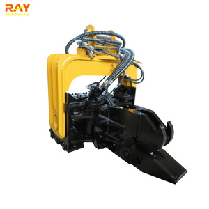 Hydraulic Vibrating Pile Driver Guardrail Pile Driving Machine Vibro Hammer  For Sale
