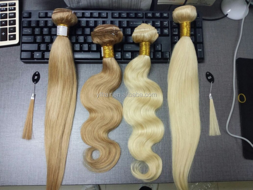 Superior quality virgin human hair wholesale price japanese blonde hair weave bundles
