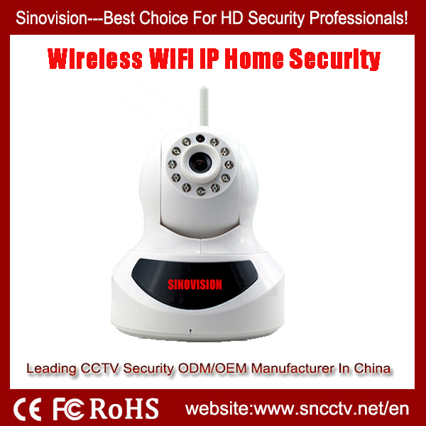 Wireless wifi Pan&Tilt IP CCTV Home Camera with P2P Cloud