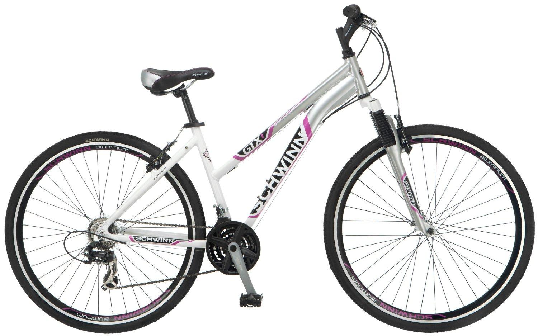 f2e01bf0813 Schwinn Women's GTX-1 700C Dual Sport Bicycle, White/Silver, 16-Inch
