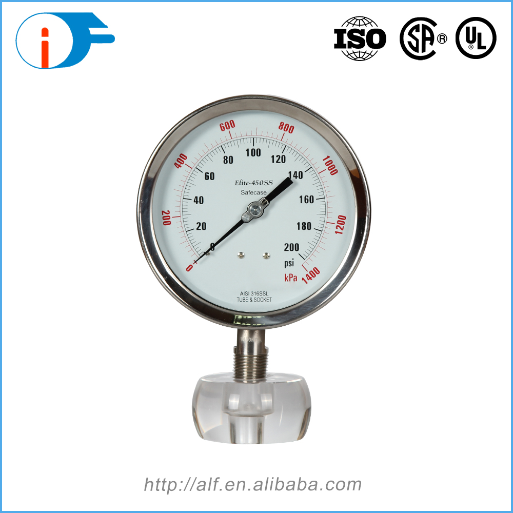 304 SS High Precision Stainless Steel Anti-explosion Pressure Gauge