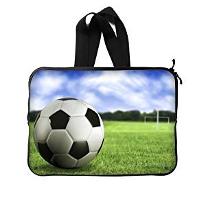 """Football Soccer Ball Notebook Computer Bag Case Cover 11"""" 11.6"""" 12.5"""" Inch (Twin Sides) /Water Resistant Neoprene Laptop / MacBook Air / Macbook Pro / Netbooks Sleeve"""
