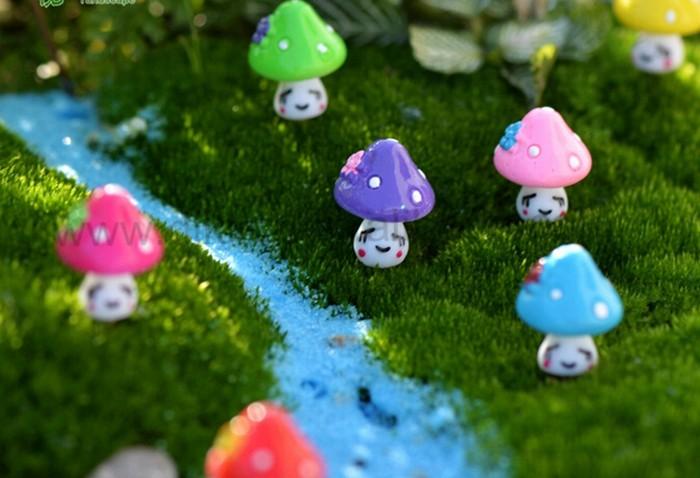 Groothandel Tuin Accessoires : Paddestoel terrarium decor miniatuur terrarium toadstool pixie