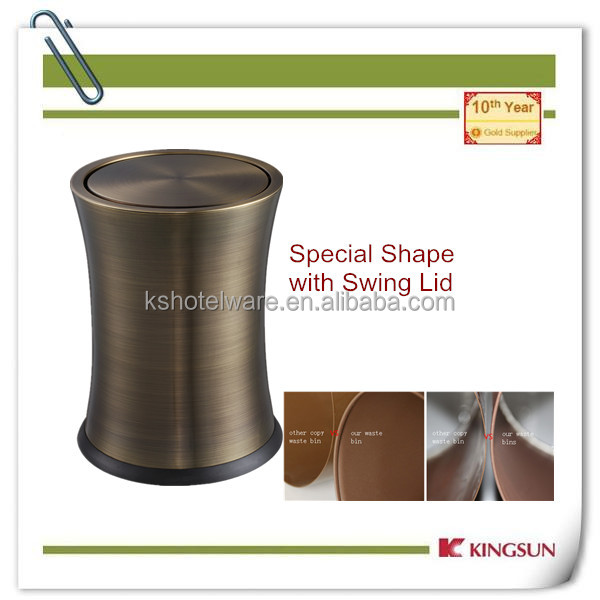 with swing top kitchen compost bin