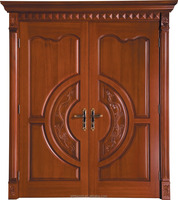 Villa luxury front doors entry solid wood double door