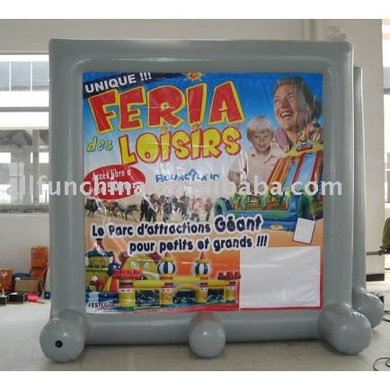 inflatable screen display/hot welded screen/air tight billboard with banner/event frame/display film screen