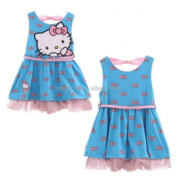 Baby Mädchen Partykleid Hallo Kitty Kleidung Kinder Kleidung Qgd ...