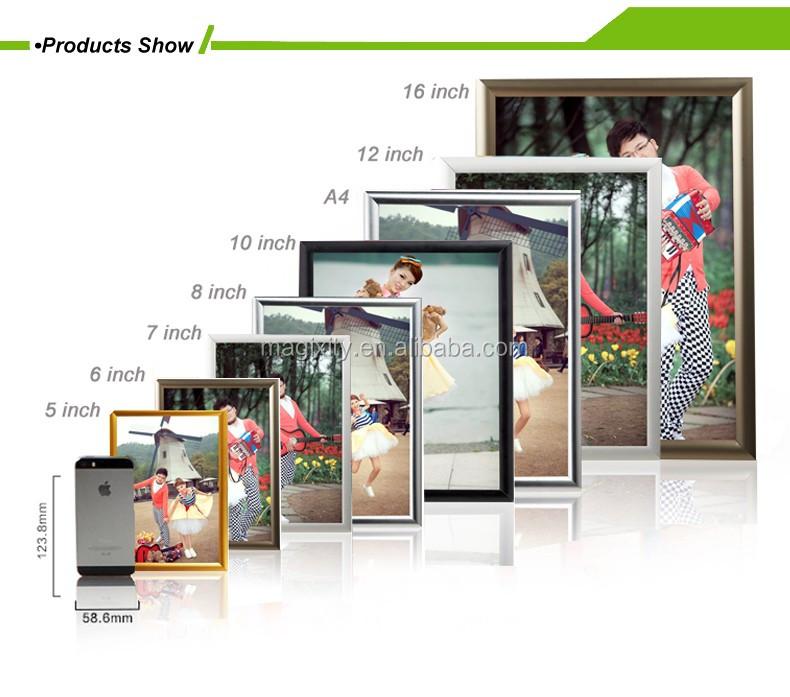 "1/"" Aluminium Slide in Frame 11x17 Size Mitered Corner Silver front Loading"