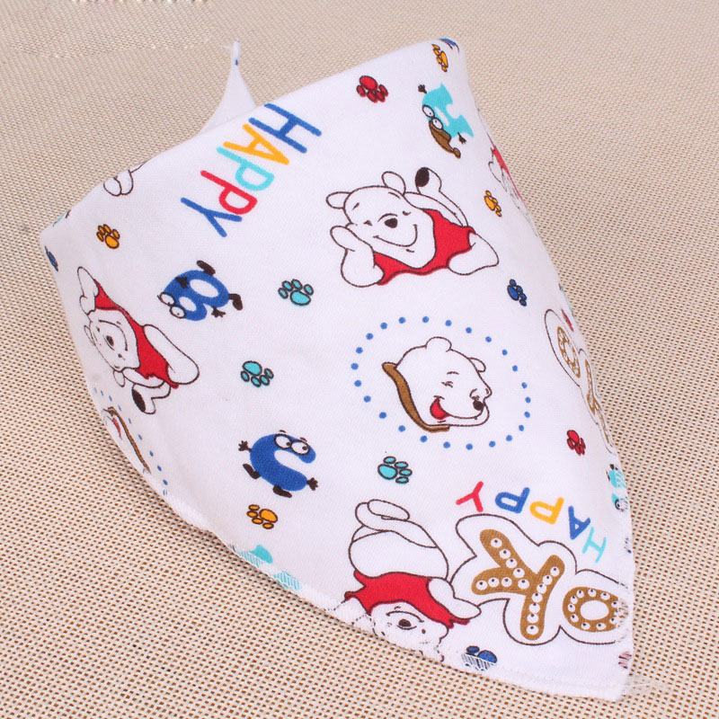 2016 Baby Bibs Cute Cotton Newborn Triangle Burp Cloths Bandana Infant Saliva Bavoir Towel Newborn Feeding