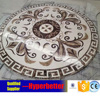 brown mixed white marble stone medallion tiles
