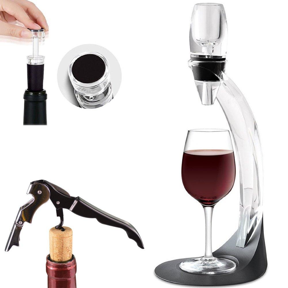 Wine Aerator, Tavax Wine Aerator Decanter with Aerator Stand Holder & Mini Filter, Wine Aerator Pourer Set with Gift Box