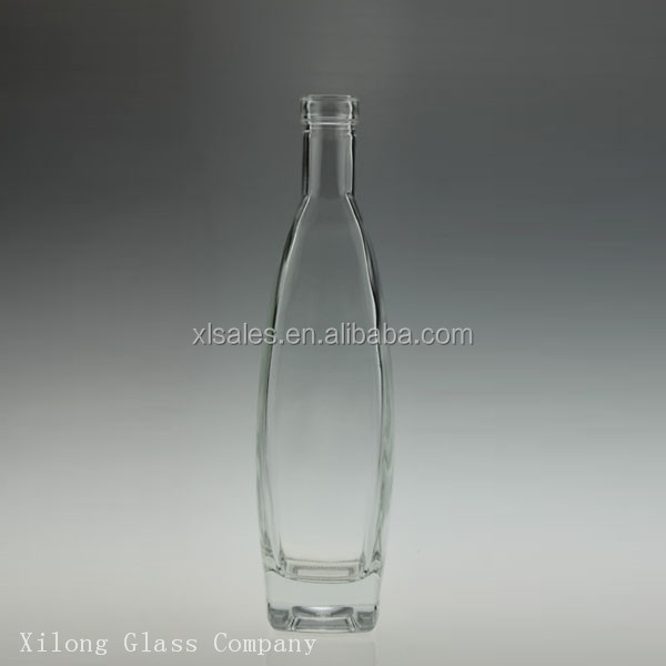 WHOLESALE HIGH QUALITY UNIQUE GLASS ROLLER BOTTLE FOR LIQUOR 500ML