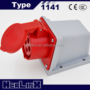 High Quality Electrical Power 380V 4 pin 16 amps Industrial Socket