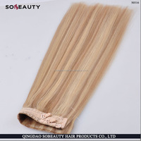 2015 cheap new arrival best selling double drawn virgin brazilian mirco loop hair fish line hair extensions