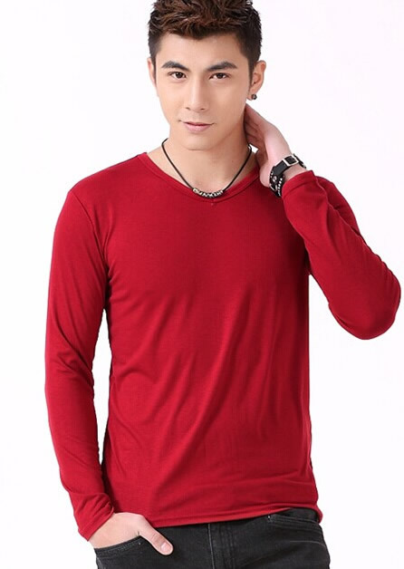 Cheap Plain Red Long Sleeve Shirt, find Plain Red Long Sleeve ...