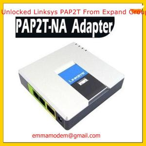 Unlocked linksys PAP2-NA VOIP Phone Voice Adapter 2 FXS ports SIP VoIP Phone RJ45 Adapter PAP2T