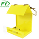 20*15*H27cm Wholesale matt yellow cast iron bird feeder parts