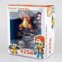 Japan anime <span class=keywords><strong>figur</strong></span> <span class=keywords><strong>Pokemon</strong></span> Center <span class=keywords><strong>pokemon</strong></span> Trainer rot Champion Ver. Nendoroid 425A 6-10 cm spielzeug action figure