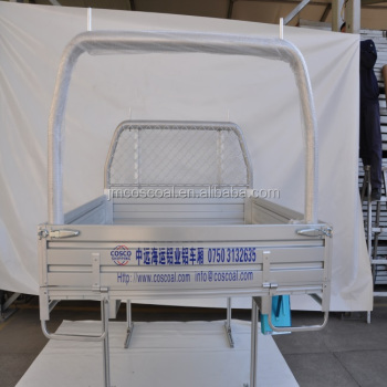 Double cab aluminium tray body