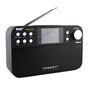 Freesat DR-103 Portable Digital Radio Receiver 2.4 inch TFT-LCD Black White Display Receptor Support DAB+/FM RDS Wavebands Radio