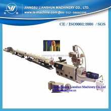 China manufacturer LIANSHUN plastic extrusion PE water pipe machine extruder line