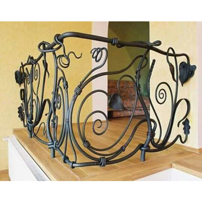 Cast Iron Stair Railing Steel Ornamental Balustrade For