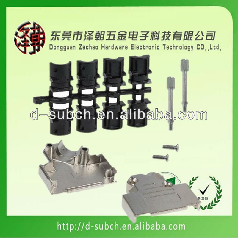 D-Sub 15/26 Pin Connector Zinc Alloy Ingot ROHS 15 pin d sub cover