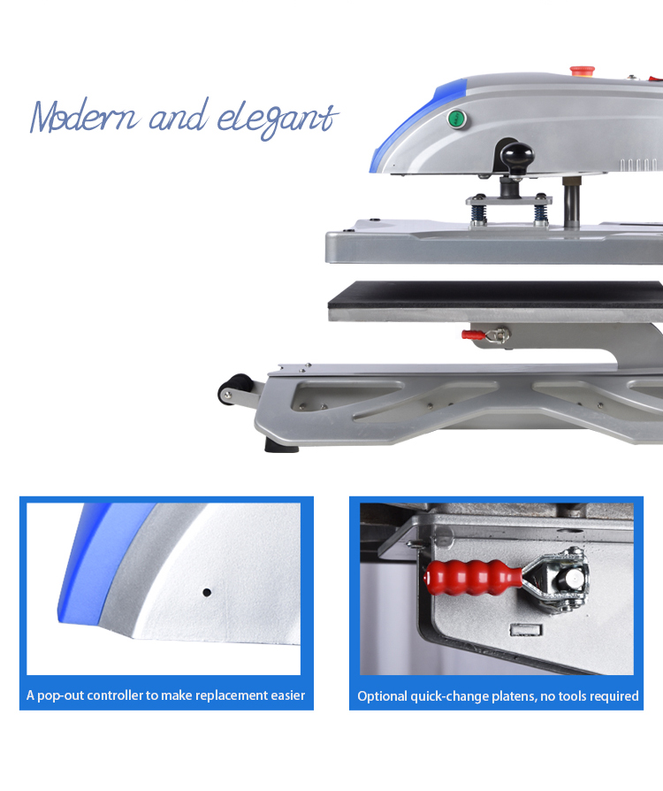 Wholesale 40*50Cm Swing-Away W/Pull-Out Drawer Pneumatic Sublimation Heat Transfer Machine