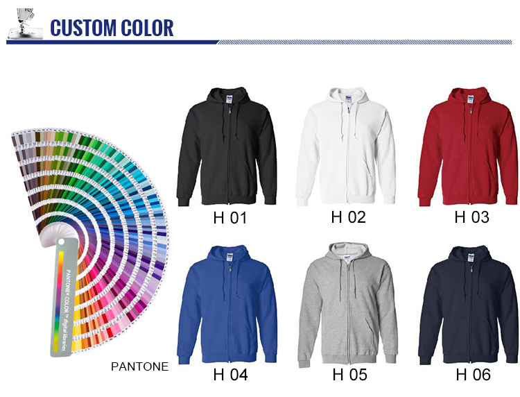 GiftIn custom embroidery logo fleece fashion hoodie