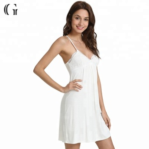 217777d41f96 Sheer Nightgown White
