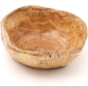 Eco-friendly Large Round Wooden Salad Serving Bowl for Kitchen