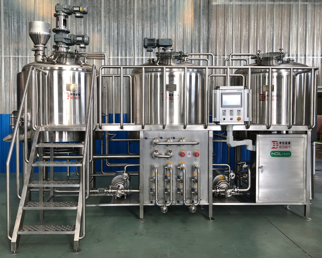 1000l three vessel complete craft beer brewery brewing equipment