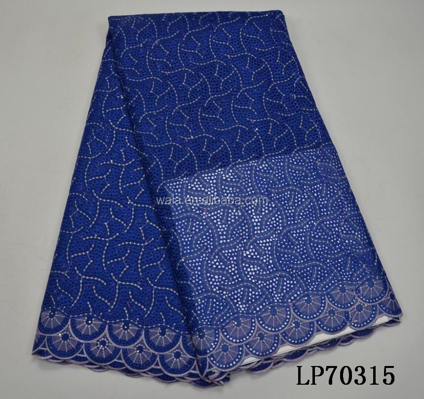 LP70315- (1) royal blue swiss voile lace in switzerland for men and women cloth