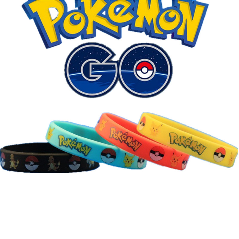 Cool personalized pokemon go silicone bracelet wristband with full color printed