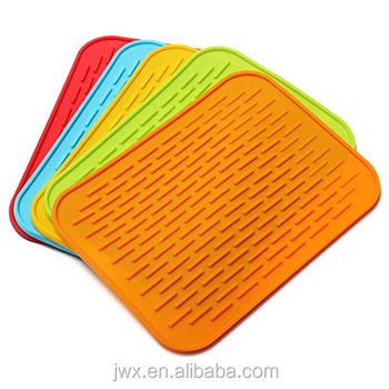 Kitchen Sink Protectors Mats Silicone Drying Mat Dishes Rubber