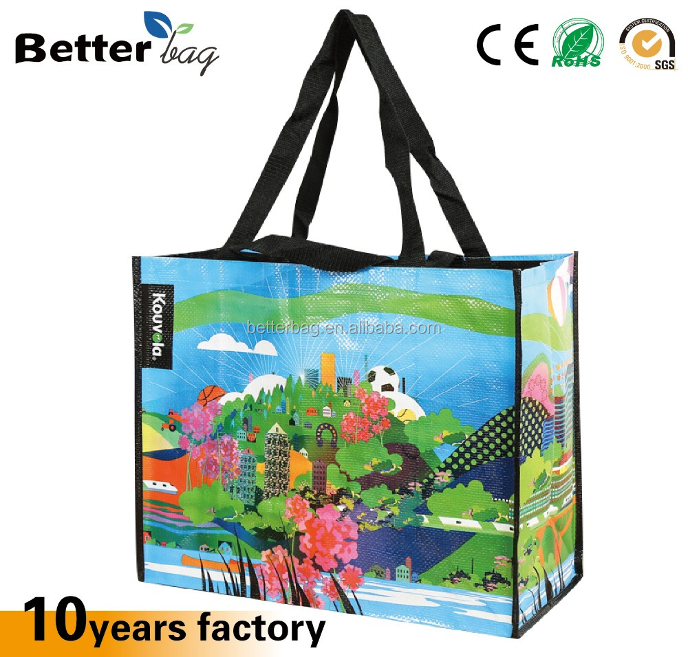 Top Quality customized Laminated Eco-friendly PP woven shopping bag