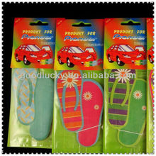Slippers shapes hanging paper air freshener for car