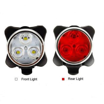 6892037f2 USB Recarregável LEVOU CONJUNTO Luz Da Bicicleta-Bicicleta Farol/Lanterna  Traseira Combinação