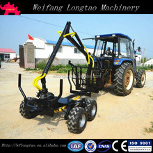 tractor mounted self power log trailer crane with remote winch 4WD