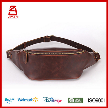 Europe Whole Men S Custom Leather Pack Running Belt Waist Bag Product On