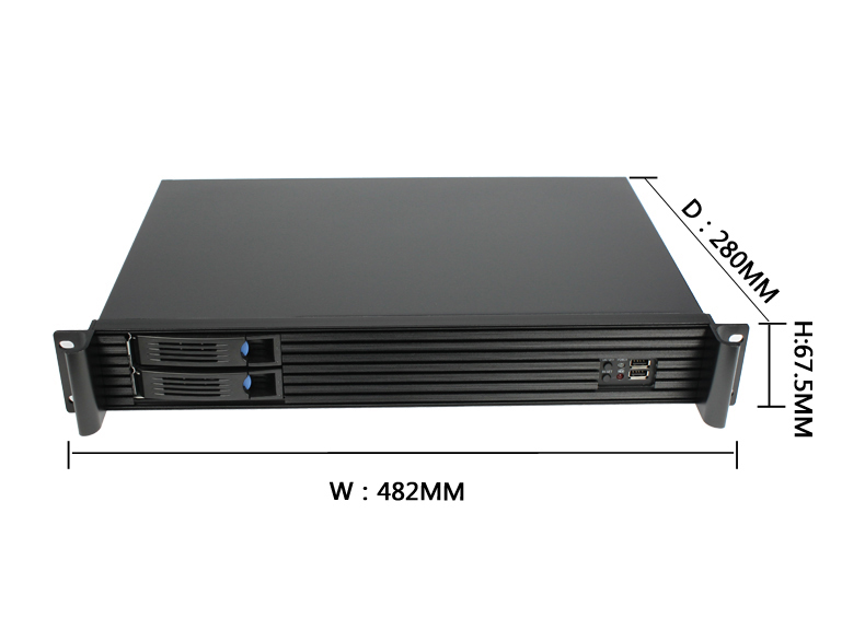 Custom 1.5U  Rackmount Server Chassis Cases hot swap server case