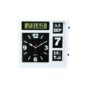 Pointer Calendar 12 Inches Temperature/humidity Automatic Flip Clock