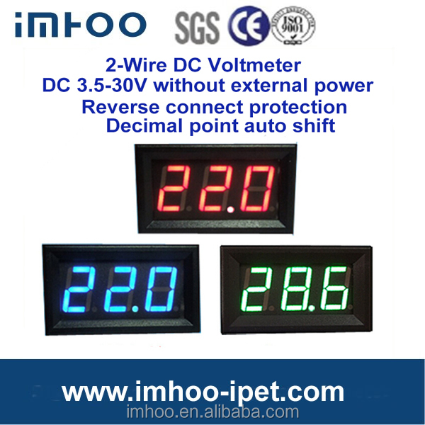 Hot sale LED display digital voltmeter 12v led voltmeter