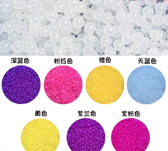 UV color changing magic luminous bead for loom bands bracelet