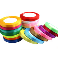 Colourful Shiny Thick Woven Polyester Satin Ribbon Different Size Wholesale