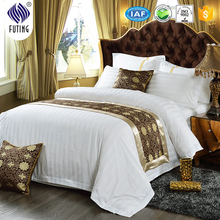 Luxury Five stars hotel bed linen stripe egyptian cotton fabric for duvet cover set