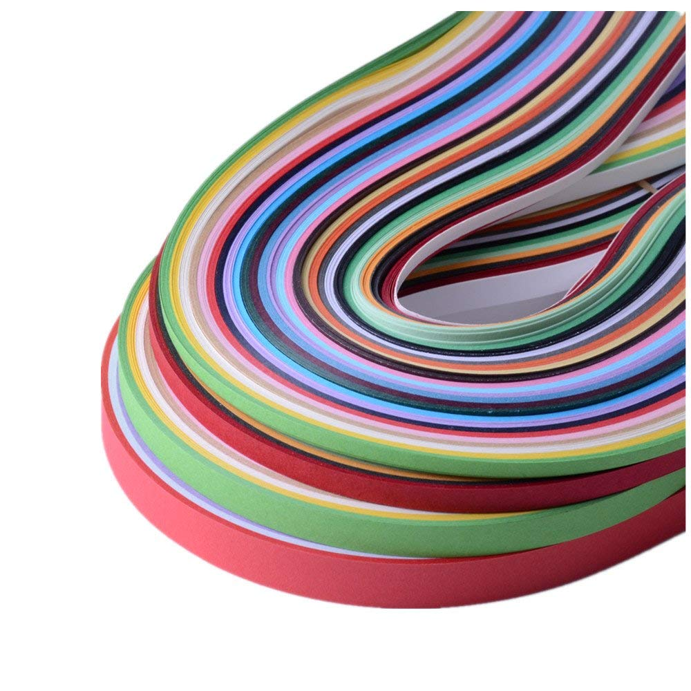 Paper Width 3mm JUYA Tant Paper Quilling Set 1280 Strips 32 Colors 39cm Length//strips