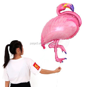 partigos 123CM Biggest size Pink flamingo foil balloons colorful animals theme birthday party decoration balls inflatable globos