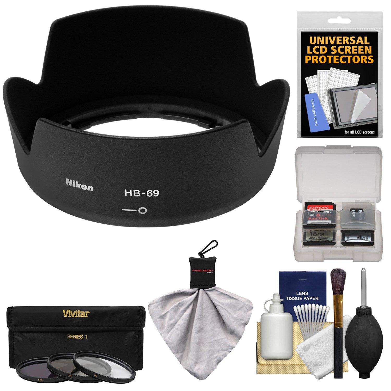 Vello HB-69 Dedicated Lens Hood 3 Pack
